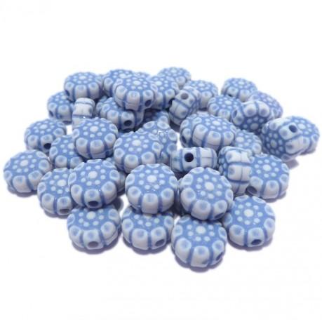 10g Modré kytičky plastové