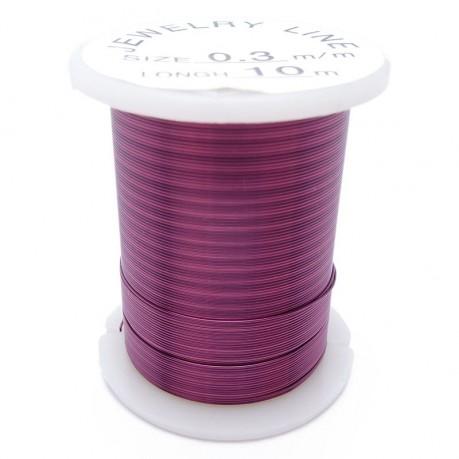 Drátek 0,3 mm fialový 10m
