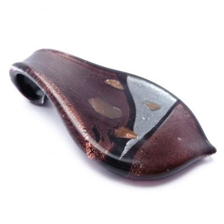 Skleněný přívěšek kapka č.3 + šňůrka ZDARMA