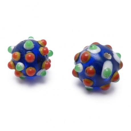 Ručně vinuté perle pár č. 28