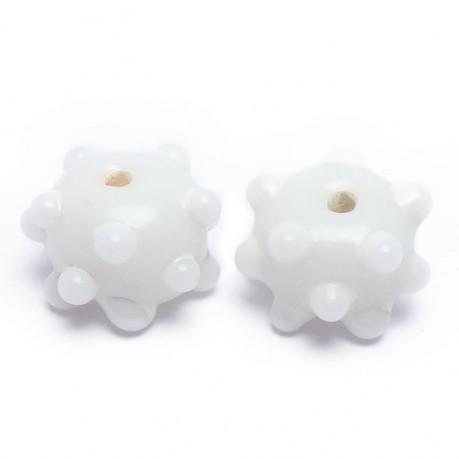 Ručně vinuté perle pár č. 33