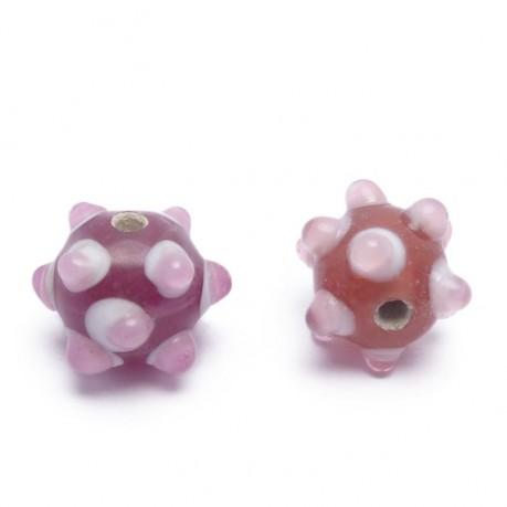 Ručně vinuté perle pár č. 34