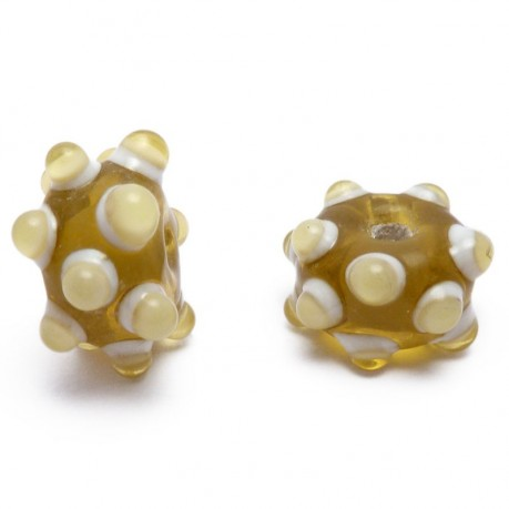 Ručně vinuté perle pár č. 42
