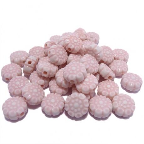 10g Růžové kytičky plastové