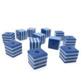 12ks Kostka plastová tmavě modrá