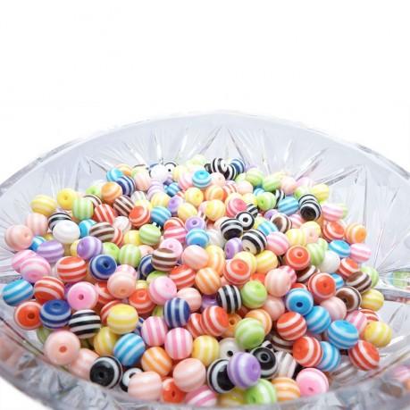 Plastové kuličky 8mm MIX barev 1000 ks