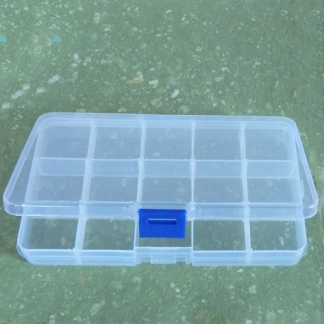 Organizér - Plastová krabička, box - 15 přizpůsobitelných přihrádek