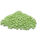 10g Skleněné korálky 4mm - rokajl zelené