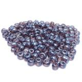 10g Skleněné korálky 4mm - rokajl fialové