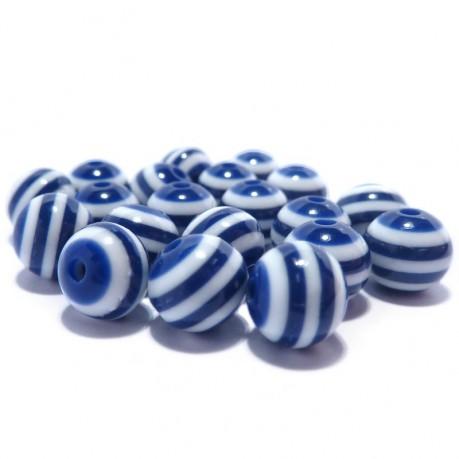 20ks Plastová kulička modro-bílá