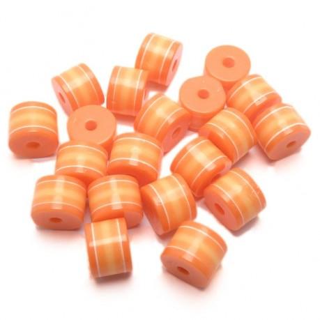 20ks Plastový váleček oranžovo-žlutý