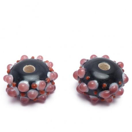 Ručně vinuté perle pár č. 45