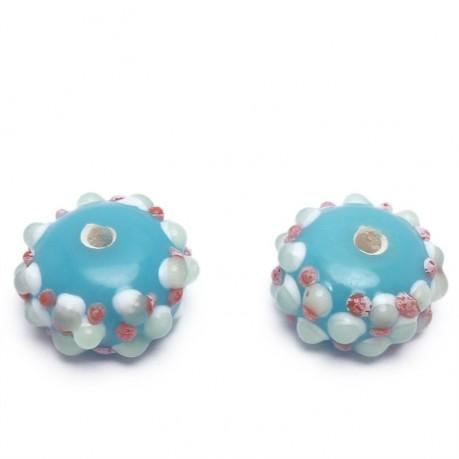 Ručně vinuté perle pár č. 46